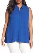 Sejour Plus Size Women's Sleeveless Tunic Blouse