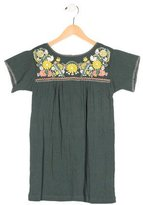 Bonpoint Girls' Short Sleeve Embroidered Dress