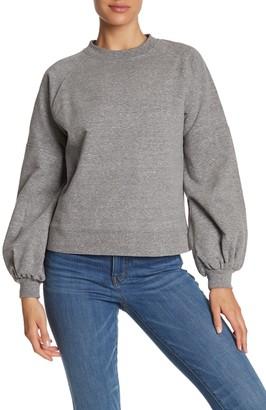Catherine Malandrino Balloon Sleeve Pullover Sweatshirt