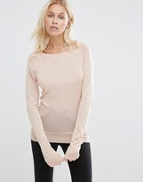 Selected Costa Long Sleeve Sweater In Gray