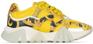 Versace baroque print Chain Reaction sneakers