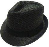Simplicity Trilby Summer Beach Sun Straw Fedora Hat w/ Band S/M