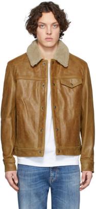 Schott Tan Vintage Waxy Buffalo Trucker Jacket