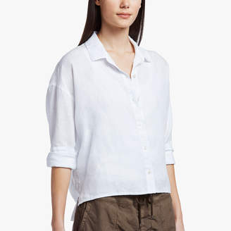 James Perse CANVAS LINEN BOXY SHIRT
