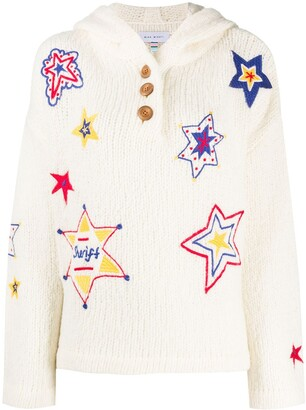 Mira Mikati Sheriff Star Embroidered hooded jumper