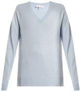 Frame Oversized V-neck cashmere sweater