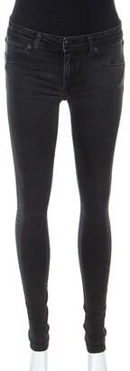 Burberry Dark Grey Denim Skinny Low Rise Jeans M