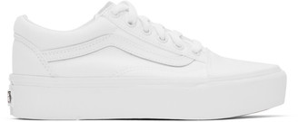 Vans White Old Skool Platform Sneakers