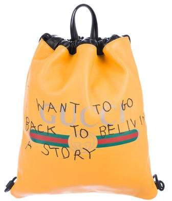 Gucci 2017 Coco Capitán Logo Backpack