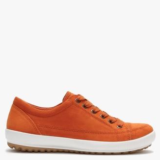 Legero Orange Suede Lace Up Trainers