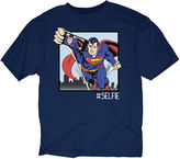 JCPenney Novelty T-Shirts Superman Selfie Graphic Tee