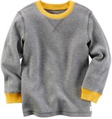 Carter's Boys 4-8 Contrast Color Thermal Long Sleeve Tee