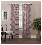 "Eclipse Radnor Trellis Thermaweave Blackout Curtain Panel Red (37""x63"