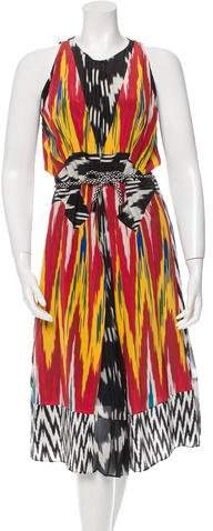 Altuzarra Resort 2016 Silk Ikat Print Dress w/ Tags