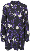 Vero Moda Long Floral-Print Shirt