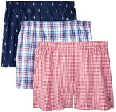 Polo Ralph Lauren 3-Pack Woven Boxers (Cruise Navy/Nevis All Over Pony Player/Freeport Plaid/Myers Plai) Men's Underwear