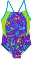 Speedo Girls' Neon Love Split Splice One Piece Swimsuit (7yrs16yrs) - 8137126