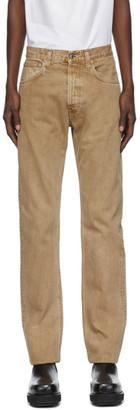 Helmut Lang Beige Masc Hi Straight Jeans