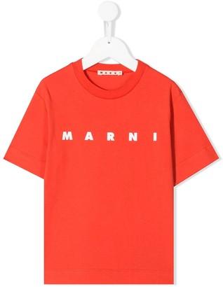 Marni logo-print crew neck T-shirt