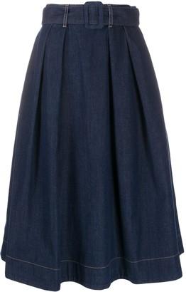 Tommy Hilfiger A-Line Denim Skirt