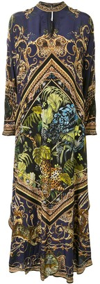 Camilla High Collar Kaftan Dress