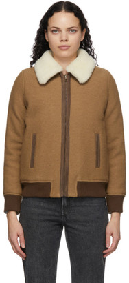 A.P.C. Tan Stacy Bomber Jacket