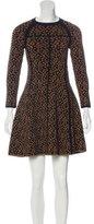 A.L.C. Wool-Blend Jacquard Dress