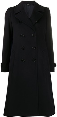 Aspesi Double-Breasted Wool Coat