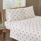 HipStyle Olivia 200-Thread-Count Printed Sheet Set in Black/Ivory