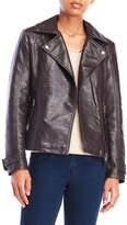 Max Studio Faux Leather Asymmetrical Moto Jacket
