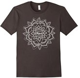 Ornamental White Lotus Mandala Yoga T-Shirt