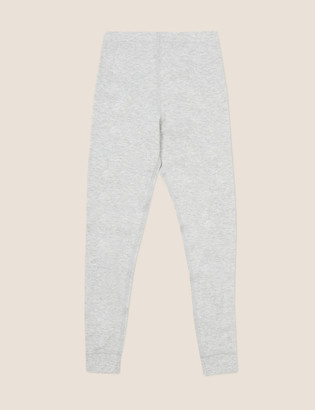 Marks and Spencer Thermal Cotton Ribbed Leggings (6-16 Yrs)