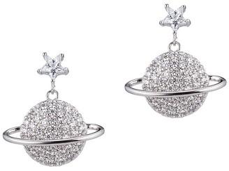 Eye Candy La Luxe Silvertone Crystal Drop Earrings