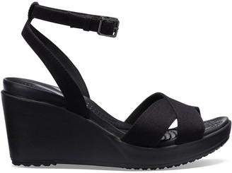 Crocs Leigh II Wedge Heel Sandals with Cross-Strap