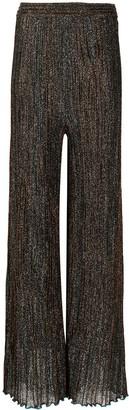 M Missoni Glitter Knit Flared Trousers