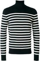 Saint Laurent striped roll neck jumper