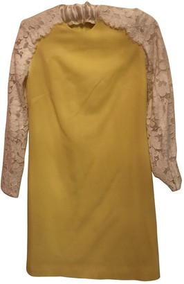 Christopher Kane Yellow Lace Dress for Women