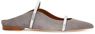 Malone Souliers Maureen 10 Grey Suede Mules
