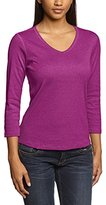 Eddie Bauer Women's 21602544 Plain V-Neck 3/4 Sleeve Shirt,8