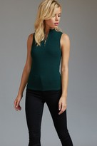 Dynamite Sleeveless Zip Front Ribbed Top