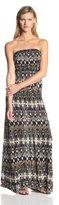 Joie Women's Ruma Jersey Ikat Print Strapless Maxi Dress
