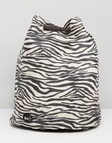 Mi-Pac Mi Pac Tumbled Swing Backpack in Zebra Print