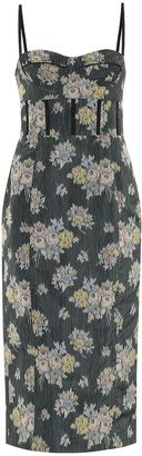 Brock Collection Quadrella floral midi dress