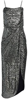 Derek Lam 10 Crosby Lexis Sequin Side Slit Sheath Dress