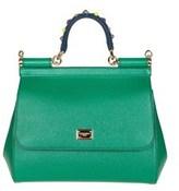 Dolce & Gabbana Dolce E Gabbana Women's Green Leather Handbag.