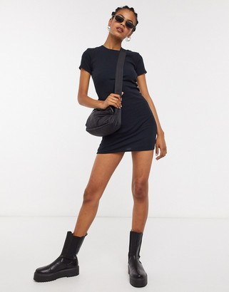 Topshop capped tunic in black