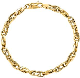 14K Yellow Gold Oval Link Bracelet, 5.9g