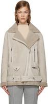 Acne Studios Beige Shearling More Jacket