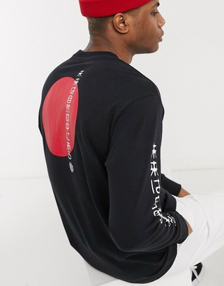 Element Takashi long sleeve t-shirt in black