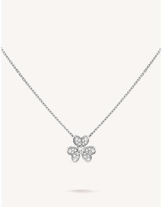 Van Cleef & Arpels Frivole white gold and diamond necklace